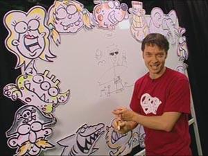 cartoon Dave at whiteboard