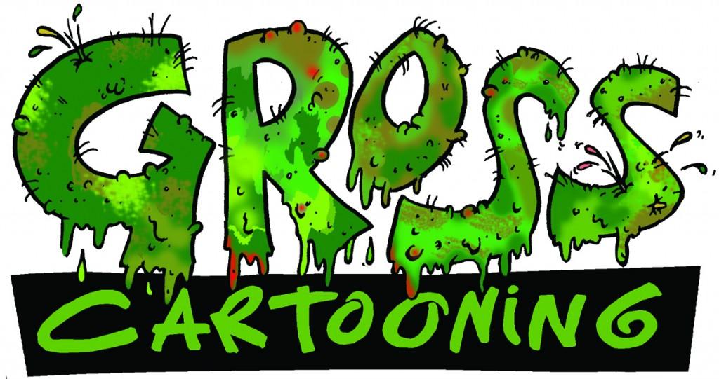gross cartooning Logo colour version